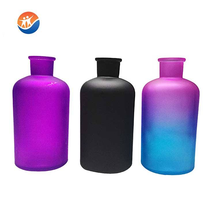 High Quality Soda Narrow neck colored Reagent bottle glass vase for decoration
