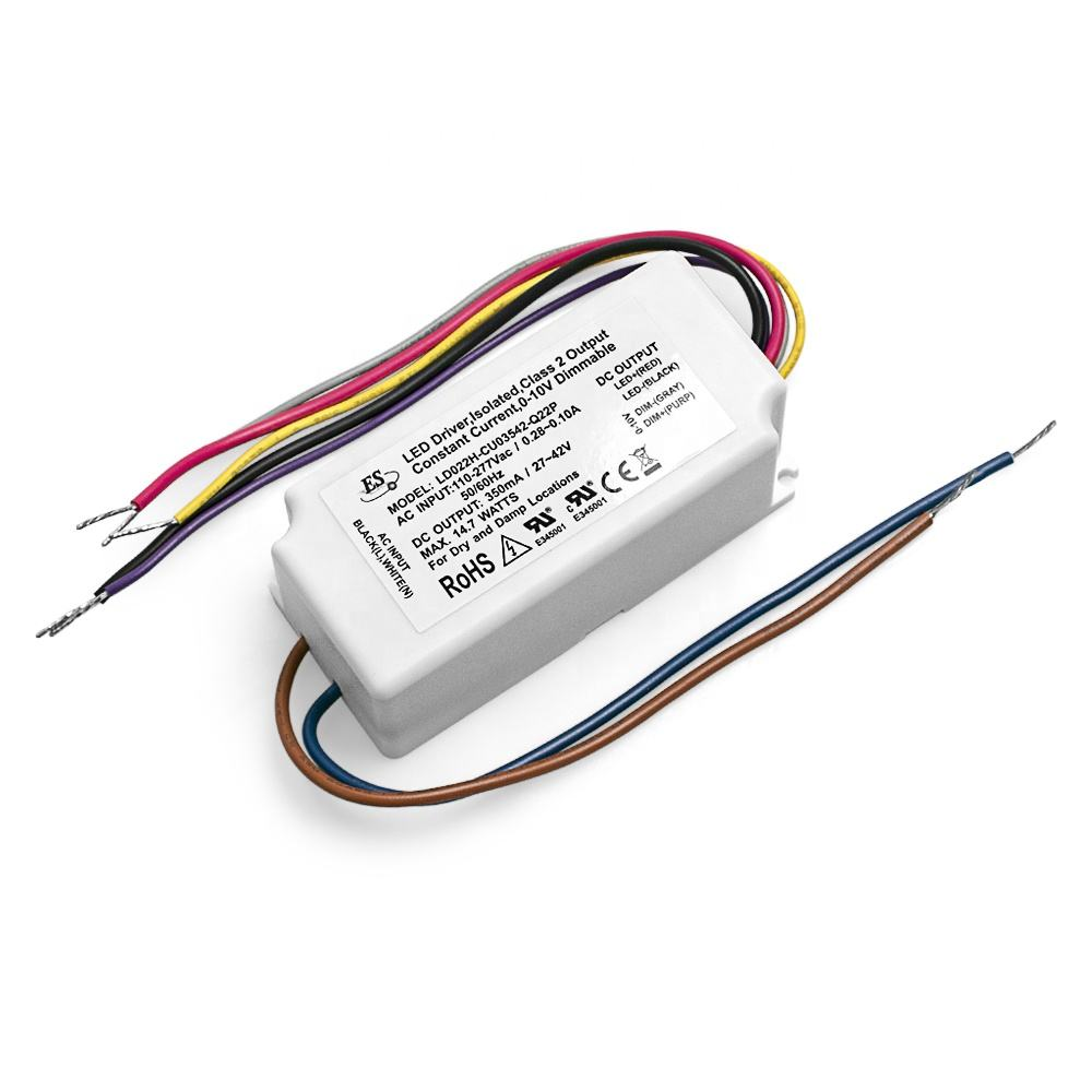 Led Dimmable Driver ES CE 22W 24Vdc 0.9A AC-DC Constant Voltage LED Power Supply 1-10v Dimmable Driver
