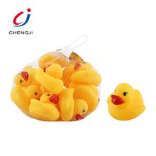 Eco friendly baby soft plastic floating bath animal toy yellow little duck