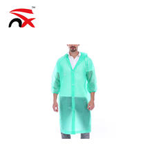 Wholesale Custom Logo Waterproof Fashion PEVA Rain Poncho With Various Colors