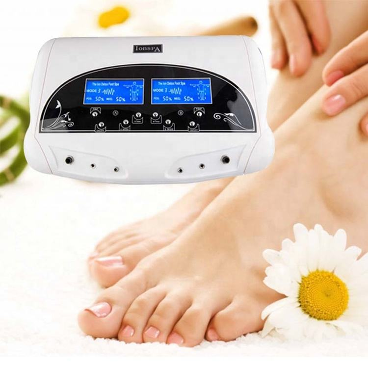 Dual LCD Ionic Cell Detox FOOT Cleanse SPA Machine with Infrared belt