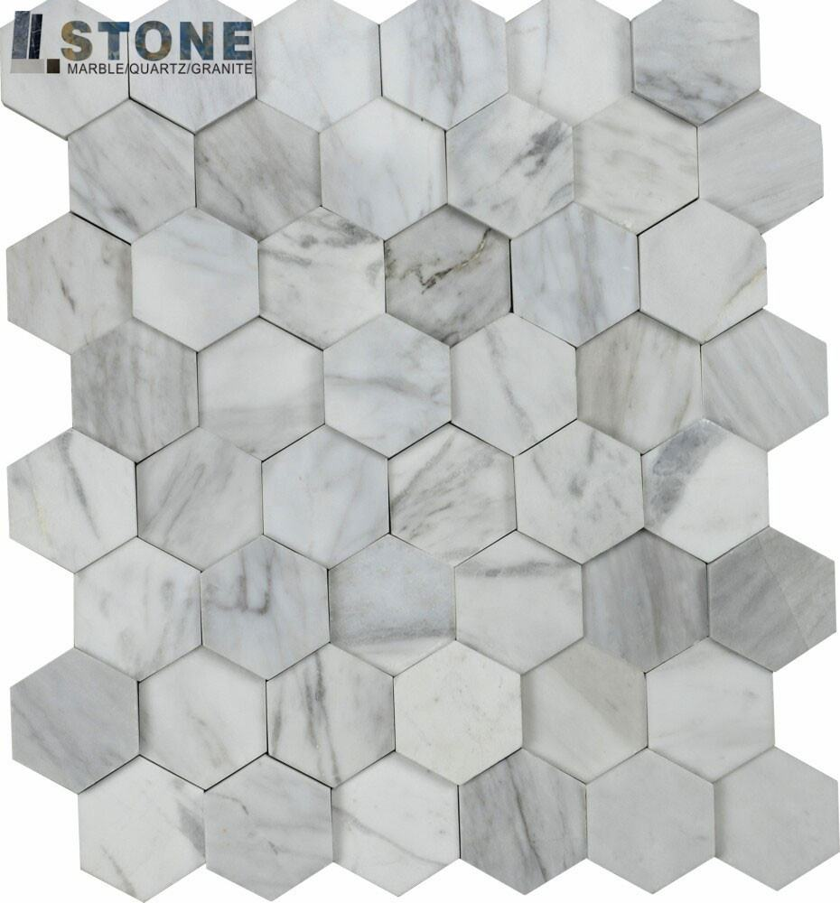 Decorative fashion design marble mosaic water jet cut onyx mosaic floor tiles