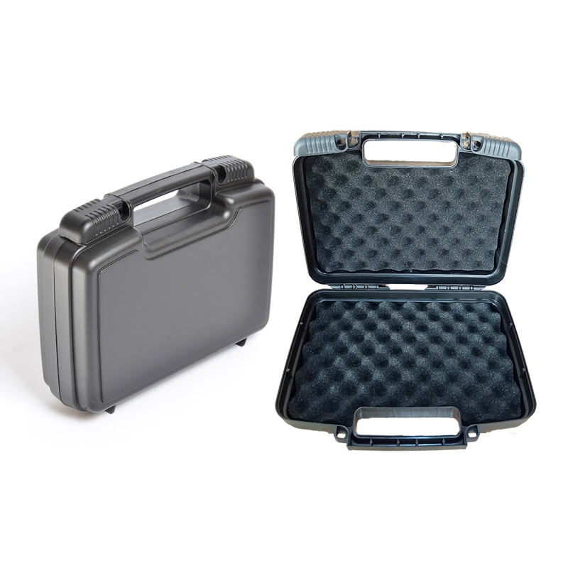 Hardshell Carrying Plastic Attache Case Plastic Briefcase Tool Box With Foam