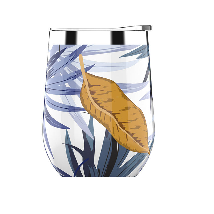 Unique Pattern Wine Tumbler Glasses Tumbler Insulated Wine Glass Stainless Steel Christmas Gift 12oz Double Wall Vacuum Tumbler