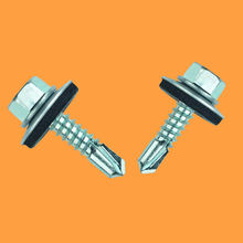 Building Roofing Tek Screws With Rubber Washers Tornillos Hexagonal Hex Head Self Drilling Screws