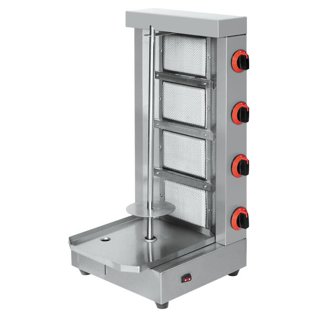 Vertical Doner Kebab Gas Shawarma Machine For Fast Food Service Equipment Grill With 4 Burner