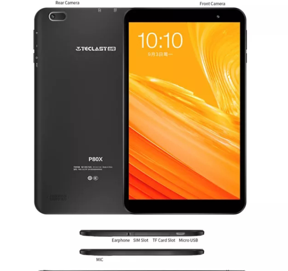 Teclast P80X 8 pollici 4G Tablet Android 9.0 SC9863A IMG GX6250 Octa Core 1.6GHz 2GB di RAM 32GB di ROM Dual Camera Tablet pc