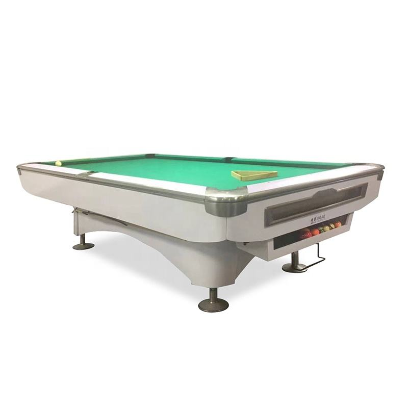 Modern design 8ft 9ft solid wood slate billiard pool table , black eight billard table