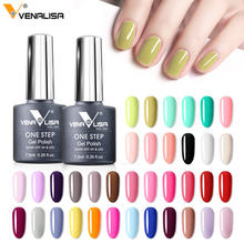 VENALISA Fast Dry Sunlight One Step Gel Nail Polish UV LED Soak Off 7.5ml 3 in 1 Gel Nail Polish Enamel Color Varnish Gel Nails