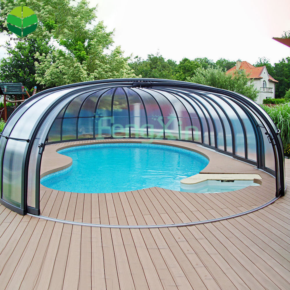 Aluminium Glass Roof Polycarbonate Diy Pool Cover Sunroom