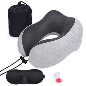 100% Cotton Comfortable U Shape Memory Foam Travel Neck Pillow