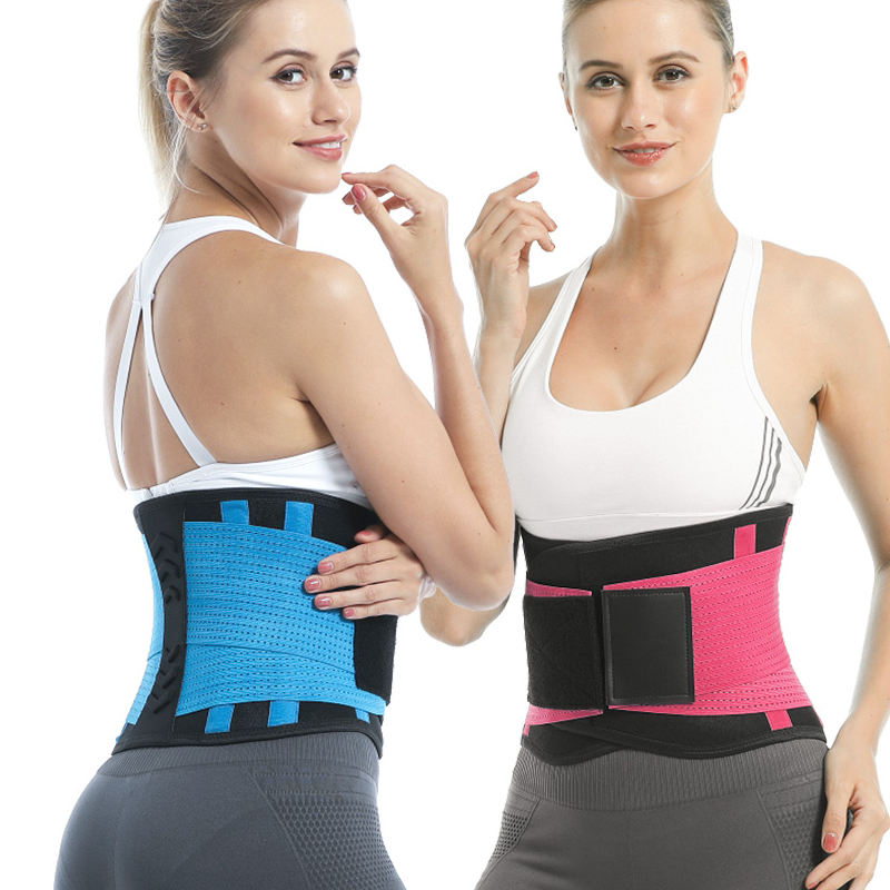 Custom Adjustable Tummy Safety Elastic Back Support Brace Waist Trainer Waist Trimmer Belt For Back Pain