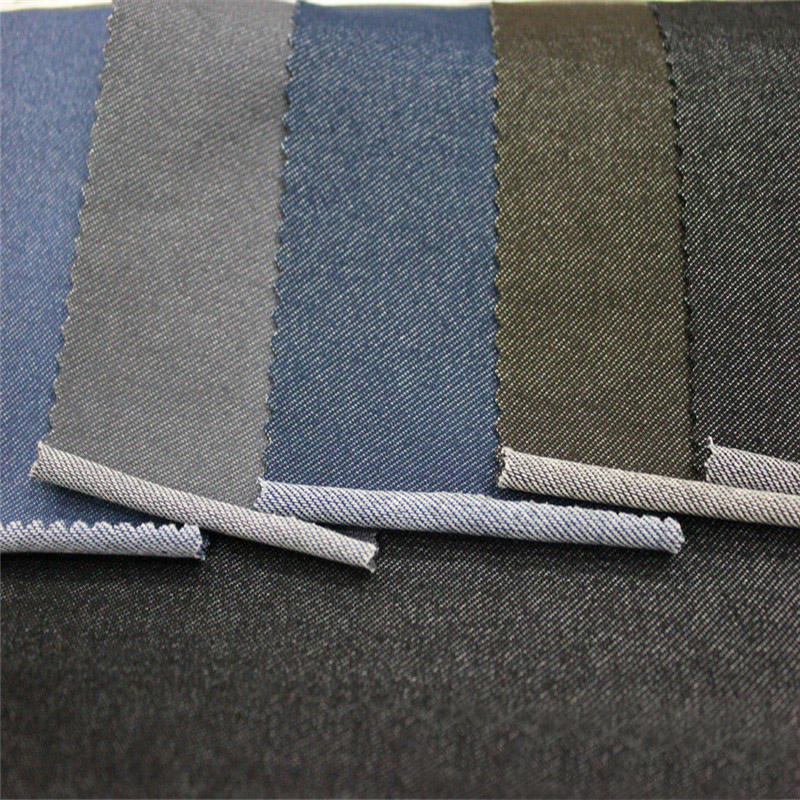 Shaoxing textile mixed colors woven cotton polyester spandex 12oz denim fabric
