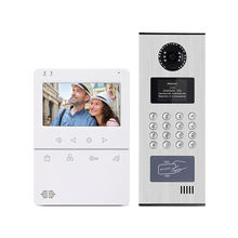 2wire multi apartment video door phone home intercom system with IC card access control and audio phone