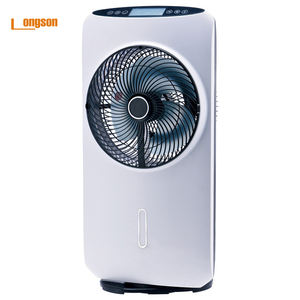 Wholesales Most Popular Portable  AC 220v DC 12v  Rechargeable Mist Fan Stand Air Cooler Fan/
