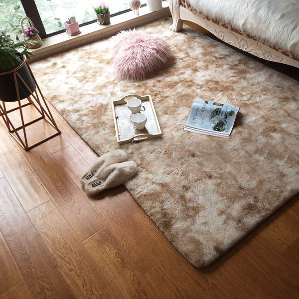 faux fur carpet pink and green rabbit mat for rabbit cage mats