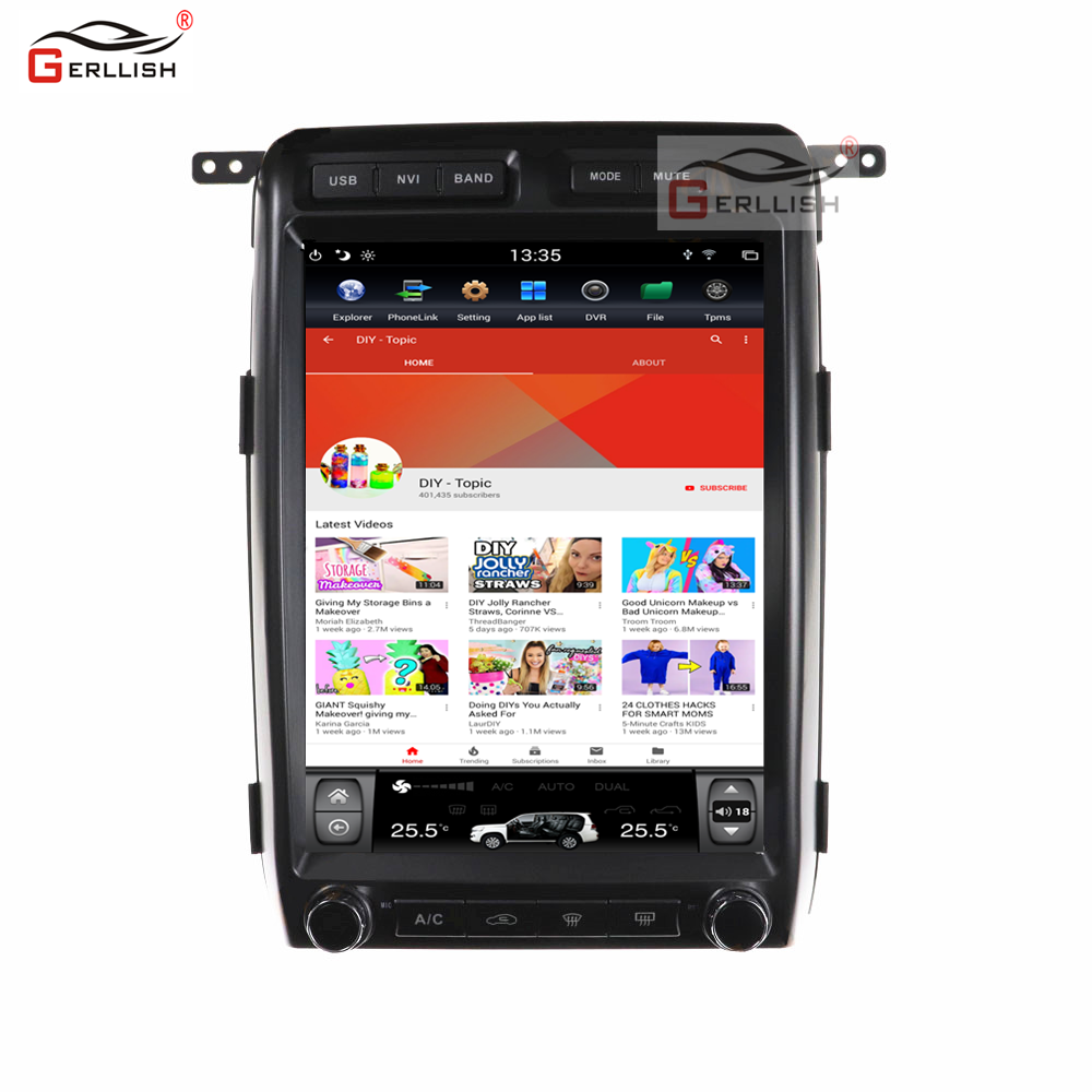 Full touch sccreen 13 inch android car dvd player gps navigation for ford Raptor f150 2009-2013