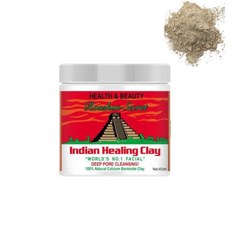 2019 popular mask Roushun indian healing clay facial claydeep pore cleansing indian clay mask