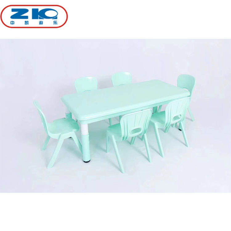 Indoor kids children plastic study table and chair for early education