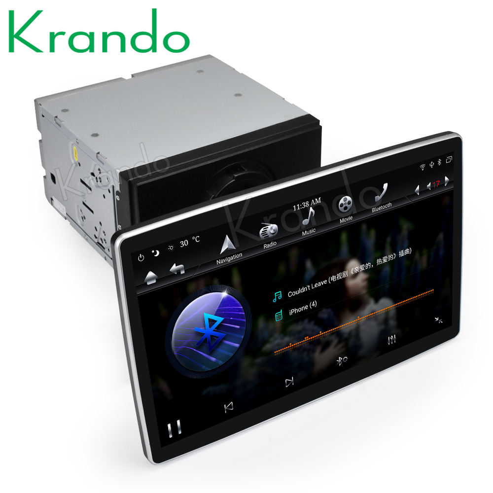 "Krando 12.8"" Tesla Android 8.1 universal car multimedia radio No DVD player For Toyota /Suzuki / Nissan / Lexus GPS Navigation"