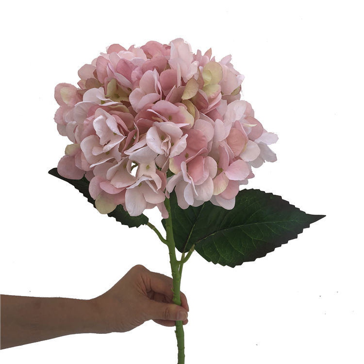 Hot Sale Cheap Real Touch for wedding Home Decoration plastic stem vintage color artificial flower silk Hydrangea