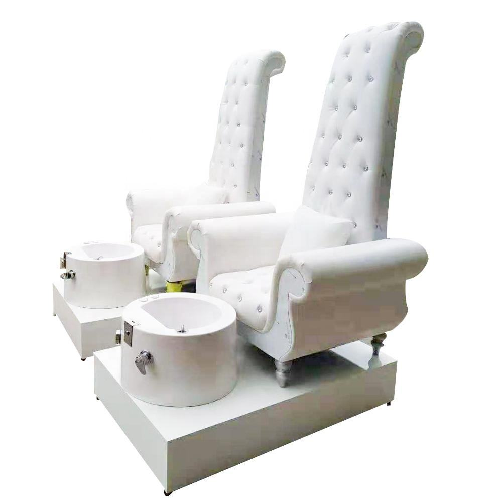 Used Electric Spa foot Massage Base high back SAP pedicure chair with basin and drawer