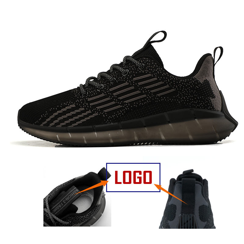 top fashion Lightweight Yeezy male flying woven Sports Sneakers running shoes men breathable casual shoes On sales