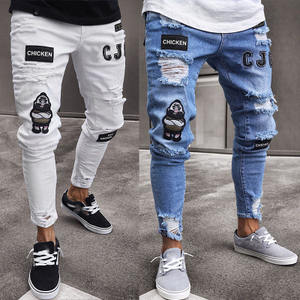 wholesale plus size male skinny ripped slim fit jeans mens jeans ripped boyfriend jeans distressed for men