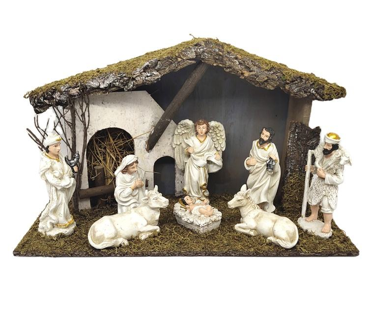 Premium Quality Holy Family Figurine Religious Ornament Resin Christmas Jecus Nativity Sets Scene Decor Gifts Crafts For Sale