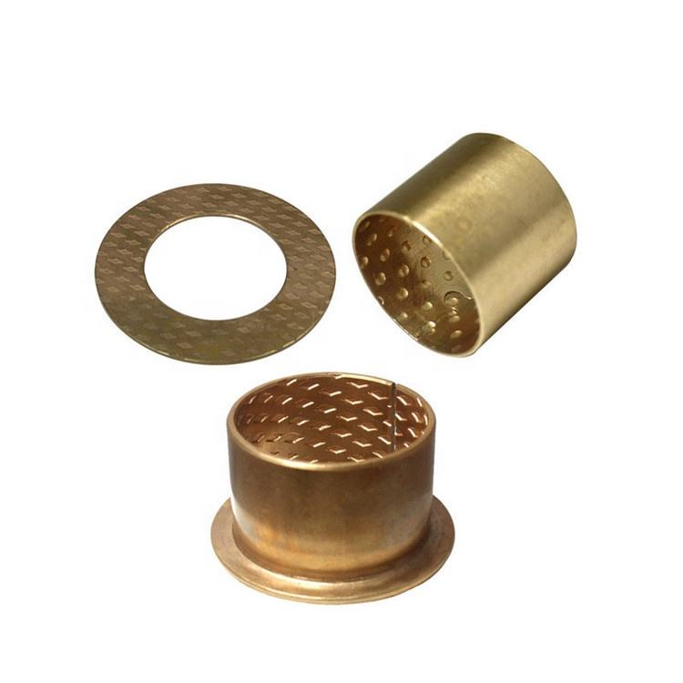 Wrapped Bronze Bushing With Oil Pockets Hardness HB110-125 FB090 Tin Bronze CuSn8 Bearing Bush Oilless Bushing