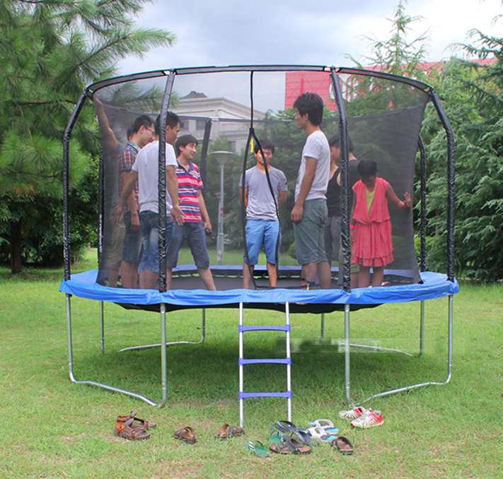 12ft popular kids and adult design outdoor trampolines park with enclosure