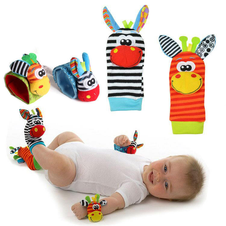 2020 fashion Infant Baby Kids Socks rattle toys Wrist Rattle and Foot Socks 0~24 Months