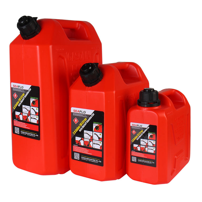 SEAFLO 25Liter Jerry Can Plastic HDPE 5 Gallon Gas Diesel Can