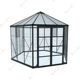 Greenhouse Polycarbonate Aluminium Hexagon Aluminum Frame Waterproof Separate Sunroom Roof with Louver Vents for Malaysia Sale