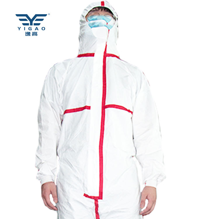 Full Body Suit Disposable Coverall Non-woven Protective Clothing