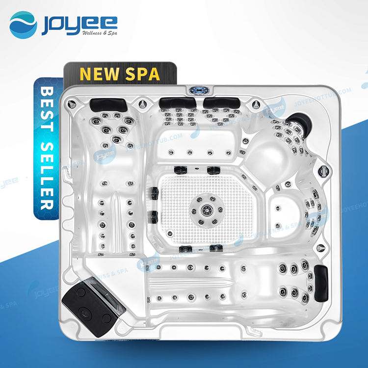 JOYEE 4 6 person family large size outdoor tub/Balboa system outdoor spa massage hot tub with Jacuzziy function LED jets spa