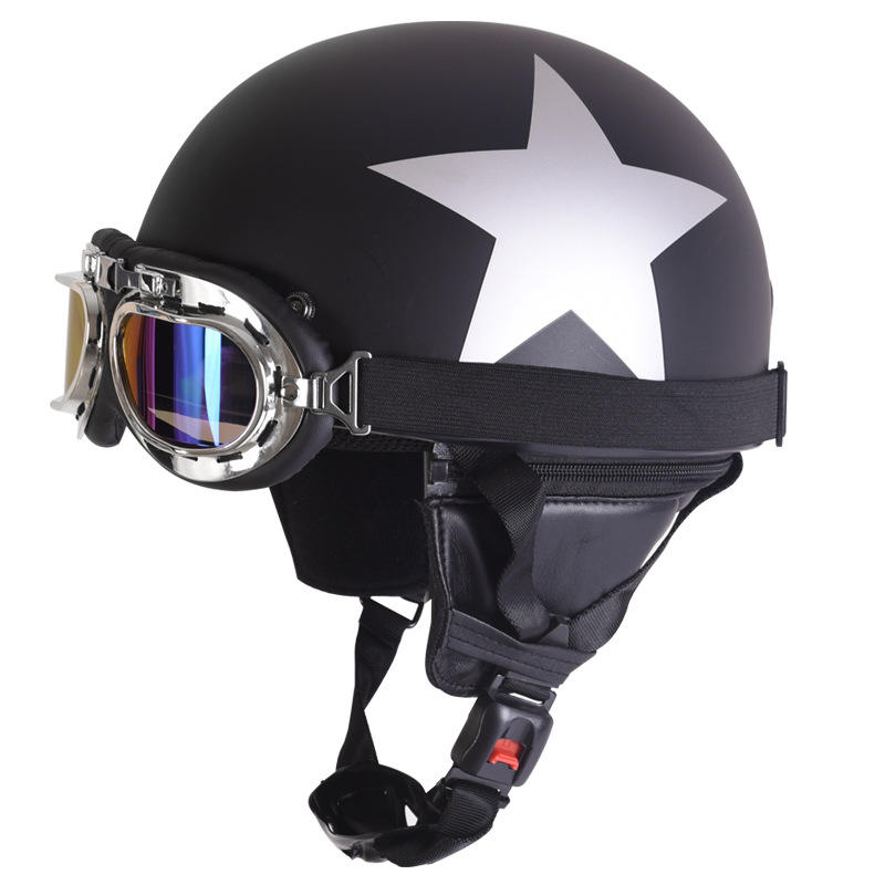 New Harley Motorcycle Helmet with Goggles Outdoor Electric Car Windproof protective Helmets Riding Helmets