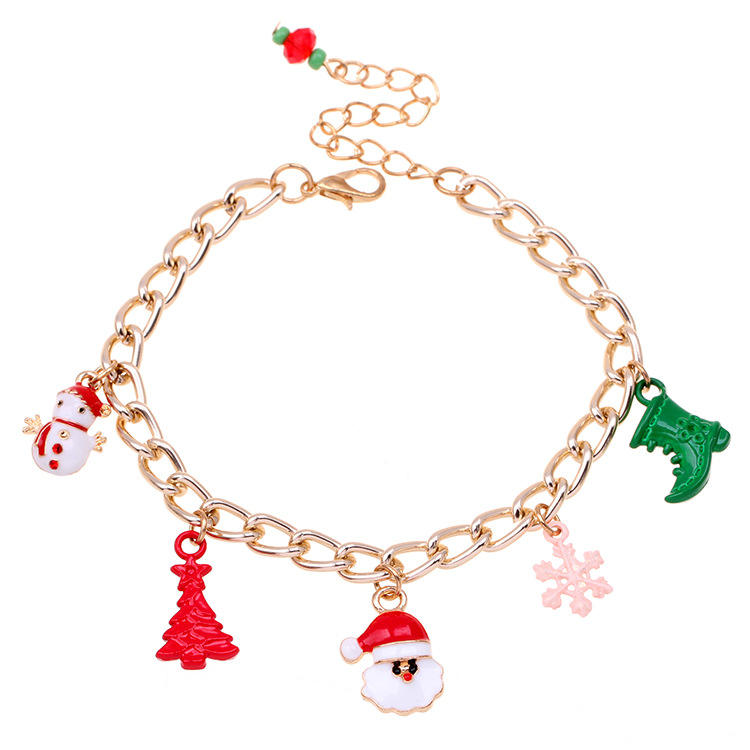 2019 New Santa Bracelet Alloy Drip Oil Christmas Tree Bracelet KL4219