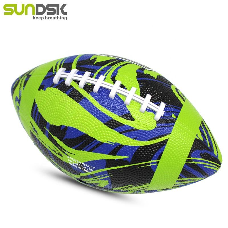 Gift full print rubber ball custom rugby size 9 american football