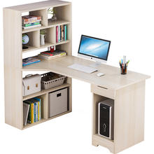 Eco-friendly adult modern office home simple study writing office desk with book shelf