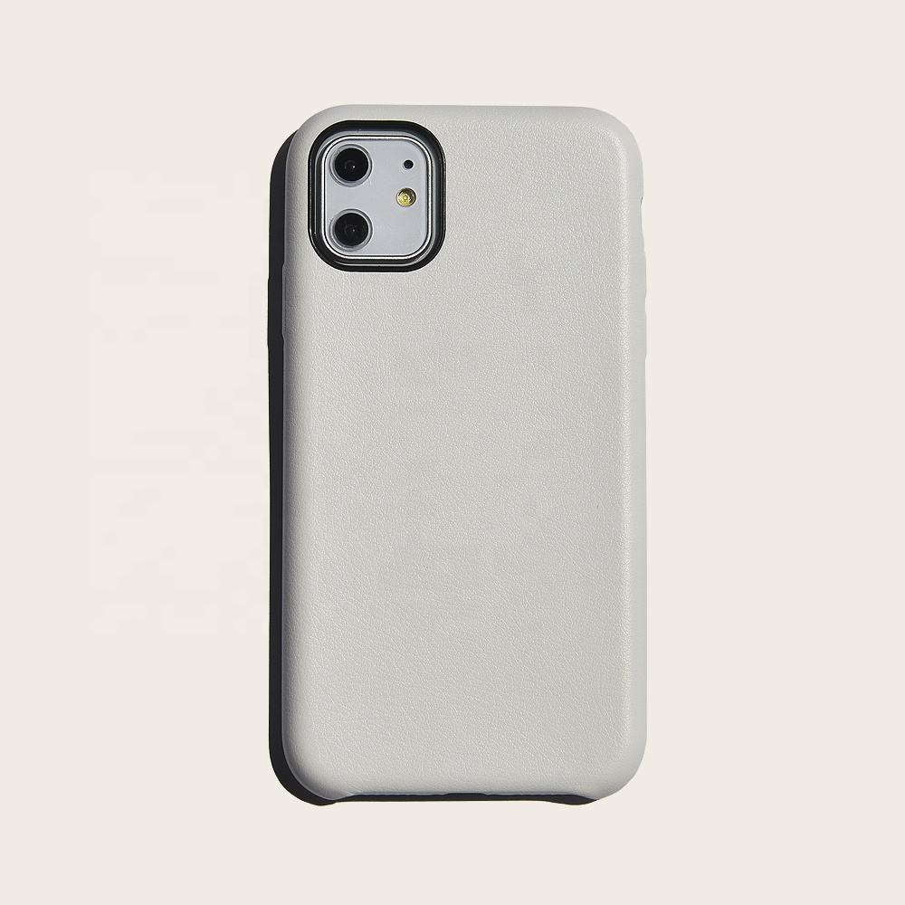 Boman pu leather phone case white for iphone 11 pro max