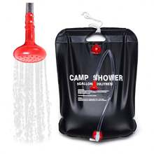 Baiyuheng Camping Outdoor Travelling Beach Ultralight PVC portable camping heating Solar shower