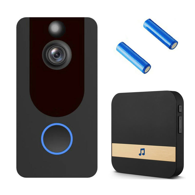 HD 1080P Wifi Video Doorbell V7 PIR Motion Detection Wifi Wireless Doorbell Weather Resistant Dingdong Ring Door Bell Camera
