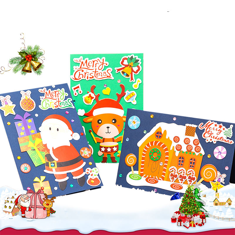 Ready to ship high quality chinese products fashion packaging custom diy Christmas Greeting Cards