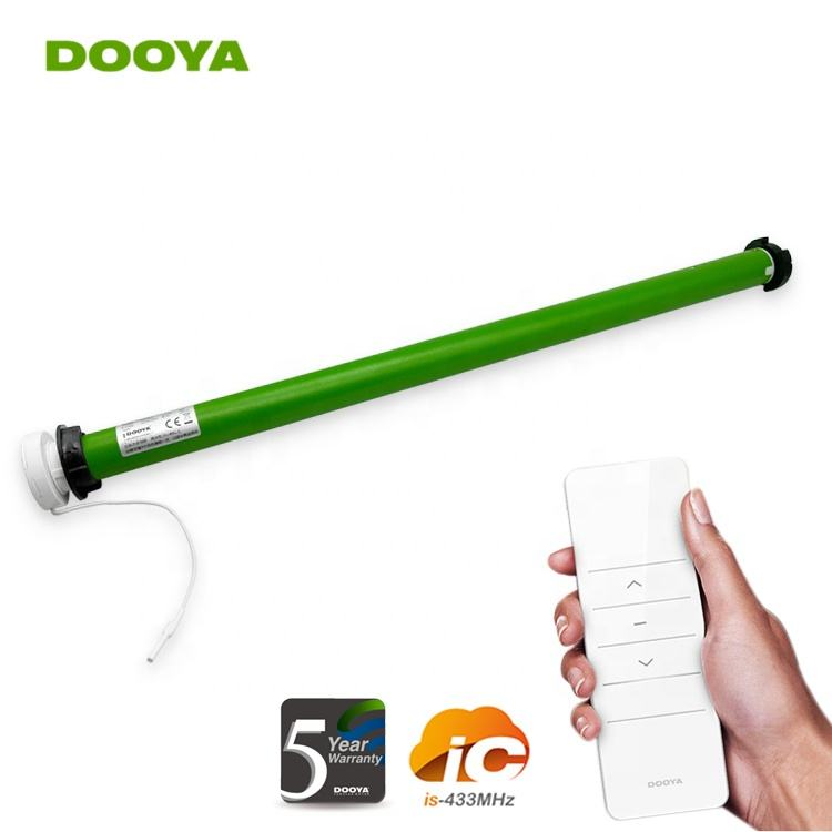 Roller Shutter DOOYA DM25LEQ Built-in Lithium Battery Quiet Mute Curtain Motor 433MHz Emitter