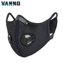 VANNO Running Cycling  Anti Pollution Pollen Allergy PM2.5 Face Shield Activated Carbon Dust Maskes