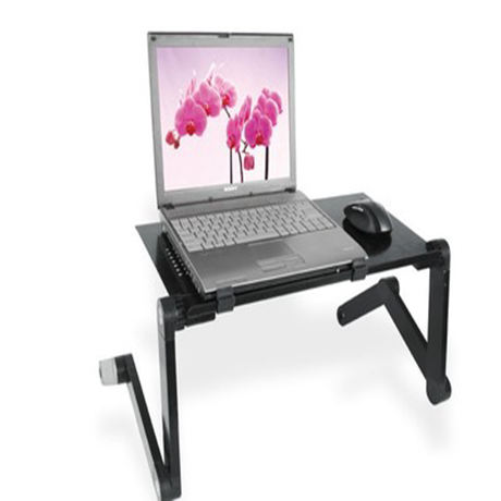 Aluminum Alloy Ajustable Portable Desktop Folding Computer Stand Flexible Office Laptop Stand Table For Bed