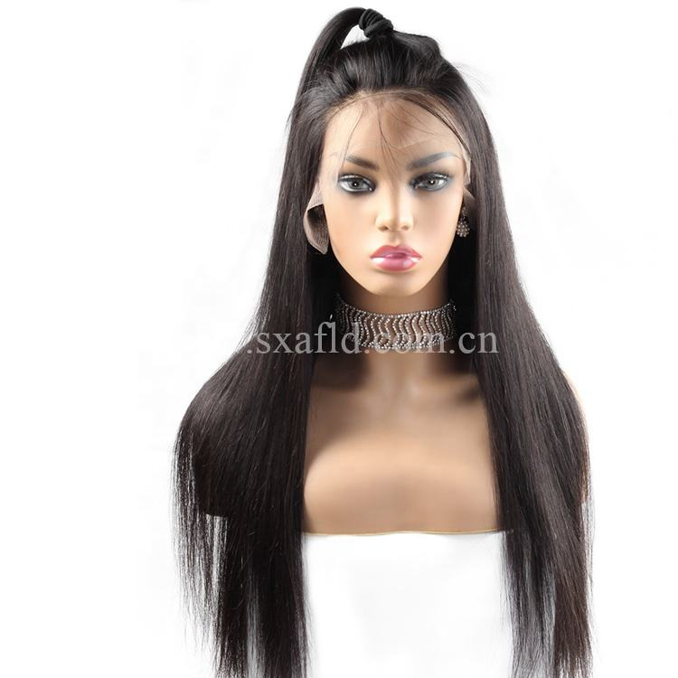 HD Full 4x4 Lace Human Hair Wigs For Black Women Wholesale Brazilian Virgin HairFront Wig With Baby Hair