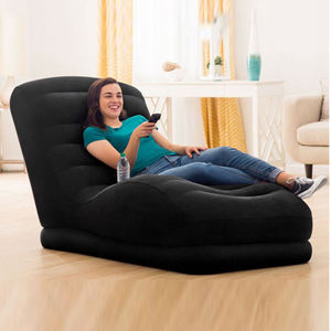 Anti-puncture Bottom Intex 68595 flocked inflatable relax sofa lounge outdoor indoor use