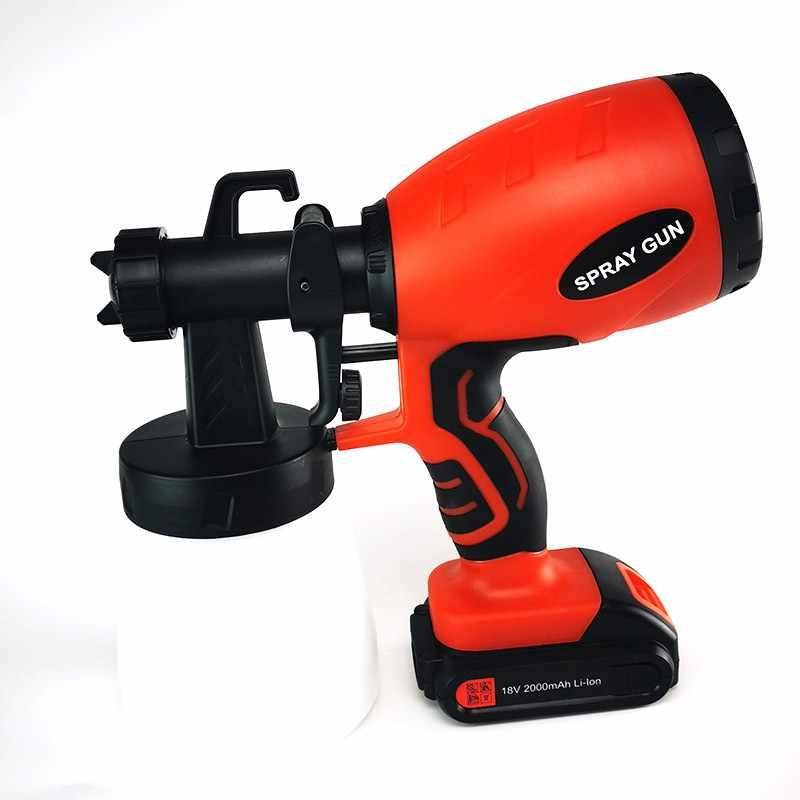 18V Cordless Spray Gun 1.5/2.5MM NozzlePaint 800ML drahtlose Spray Guns Home Electric Paint Sprayer Easy Spraying Clean